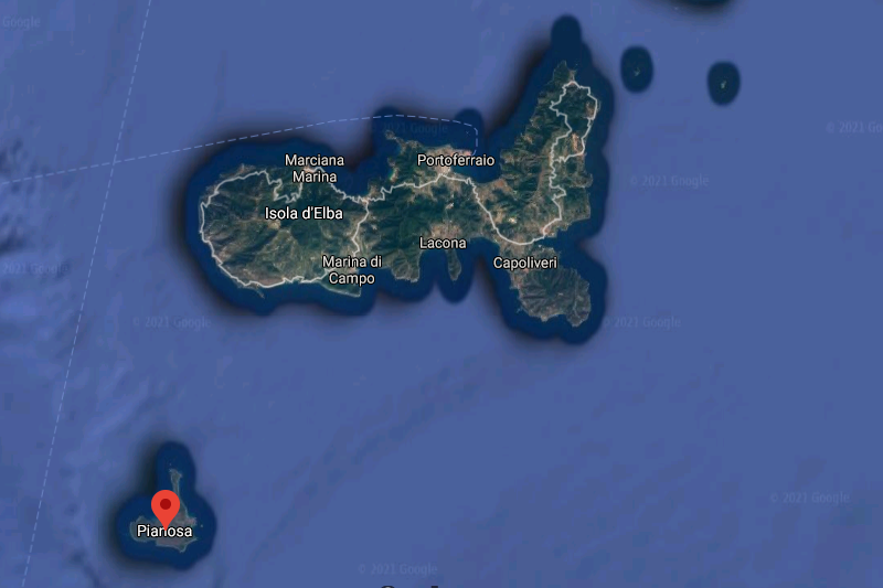 Escursioni Isola di Pianosa Escursioni Isola Elba - ElbaOutdoor map